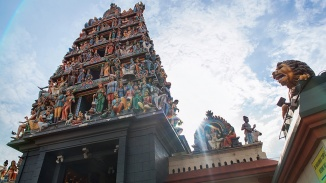One of the country's most easily recognisable landmarks, Sri Mariamman Temple is Singapore's oldest Hindu temple.