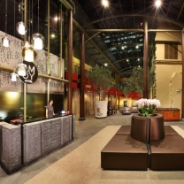 The interior lobby of AMOY by Far East Hospitality