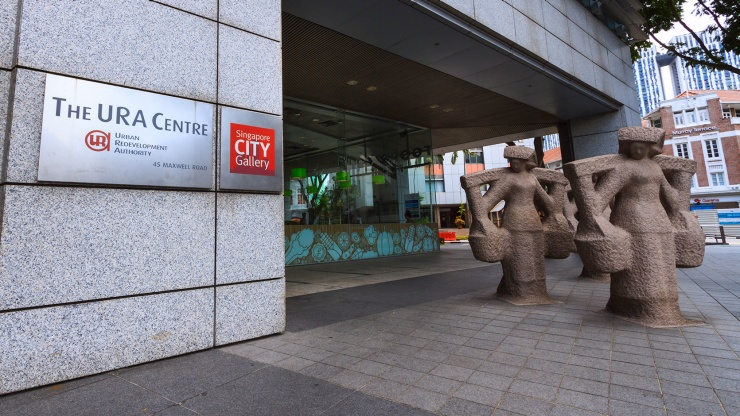 Singapore City Gallery housed at the URA Centre