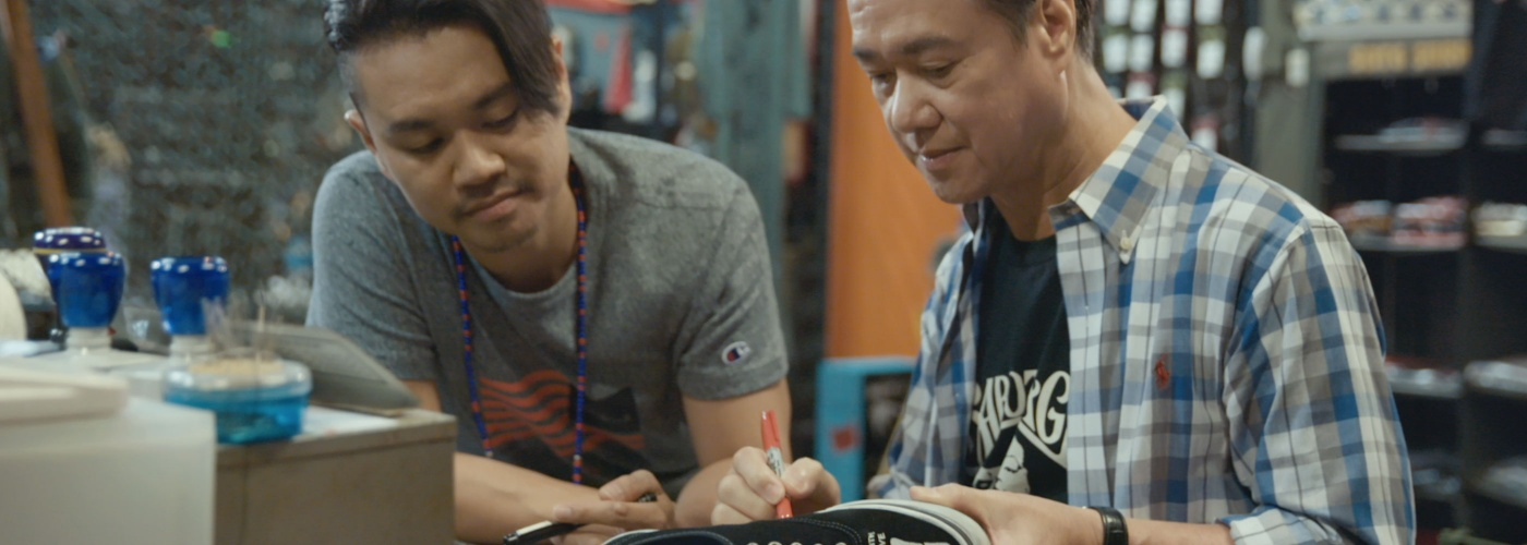 Mark Ong and his father