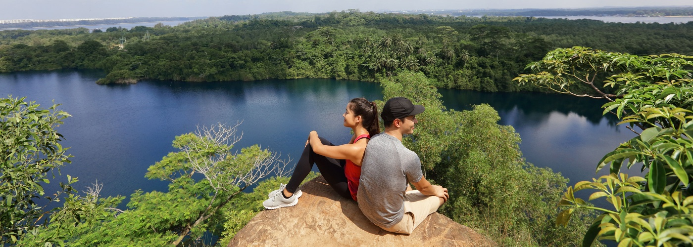 Couple at Puaka Hill on Pulau Ubin