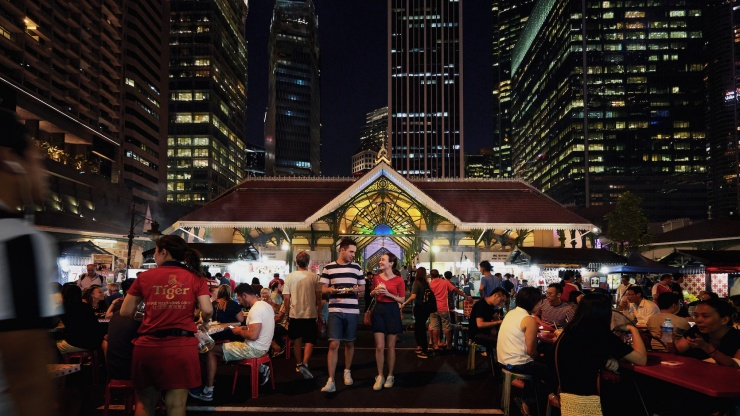 Enjoy tucking into local cuisine as you revel in the elegant old-world charm at Lau Pa Sat.