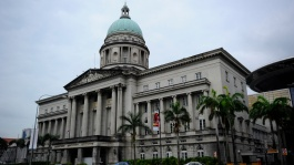 The Old Supreme Court lends a stately presence to the heart of Singapore city.