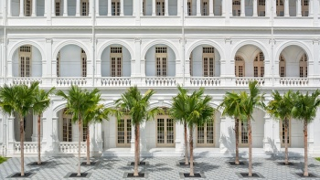 Palm Court View of Raffles Hotel Singapore