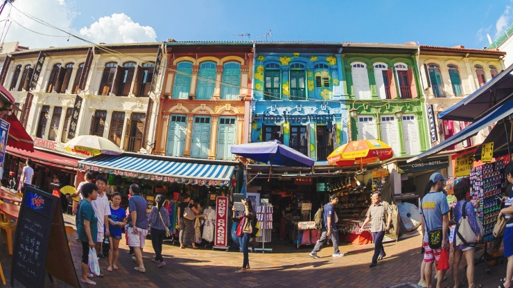 Heritage shophouses at Chinatown