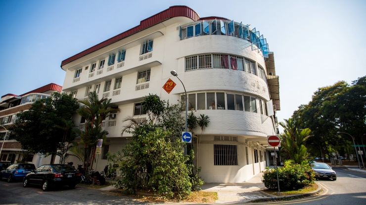 Art Deco architecture of Tiong Bahru buildings
