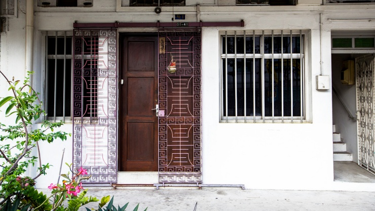 Old-school charm of an the entrance to an apartment in Tiong Bahru