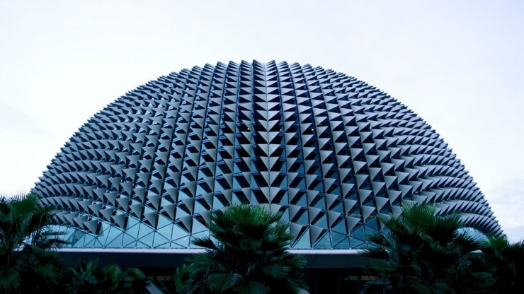 Spiky façade of The Esplanade Singapore's premier performing arts centre