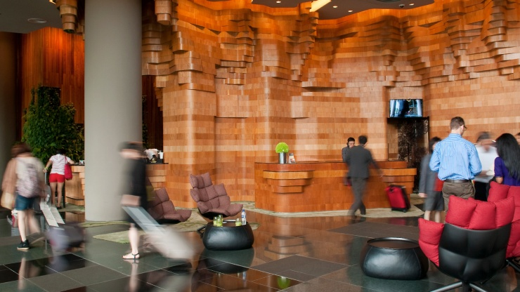 Hotel lobby of PARKROYAL on Pickering