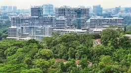The artful arrangement of The Interlace's residential blocks makes it an architectural icon.