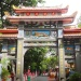 Close up of painted statues in Haw Par Villa
