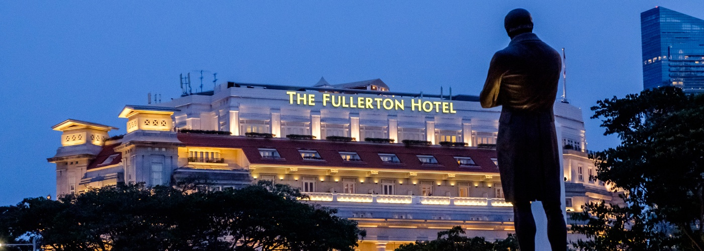 Sir Stamford Raffles watches over The Fullerton Hotel
