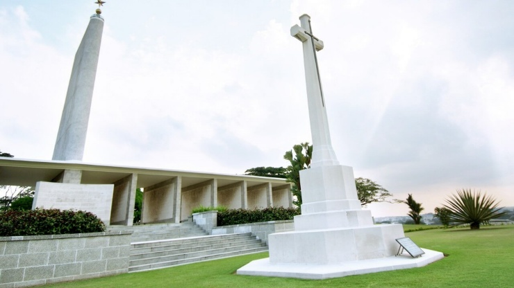 Kranji War Memorial stands in memory of those who died in the line of duty during World War II