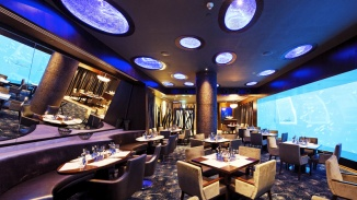 Interior of Ocean Restaurant by Cat Cora at S.E.A. Aquarium™