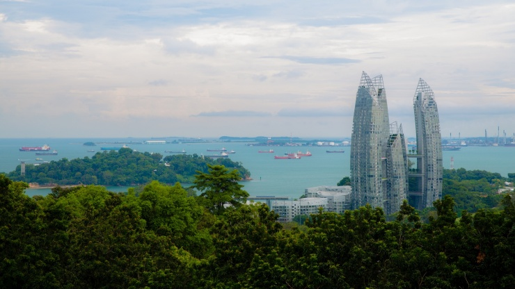 View of Reflections at Keppel atop Mount Faber Peak