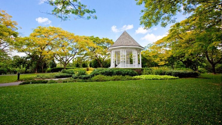 Singapore Botanic Gardens' sprawling grounds are perfect for picnicking, jogging, or escaping the city buzz.