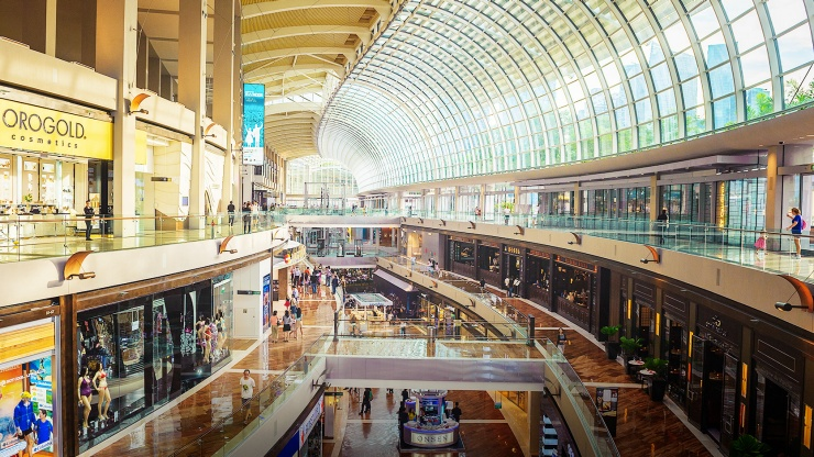 Interior of The Shoppes at Marina Bay Sands<sup>®</sup>