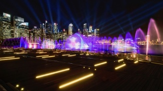 Spectra, a display show of light and water at Marina Bay Sands Event Plaza