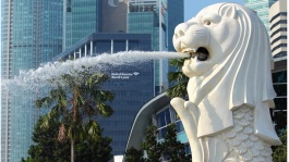 The Merlion, a reimagining of a mermaid and a lion, is an unmissable Singapore icon.