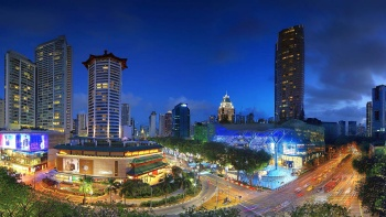 Night skyline of Orchard Road.