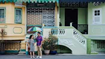 A row of colourful shophouses in Joo Chiat