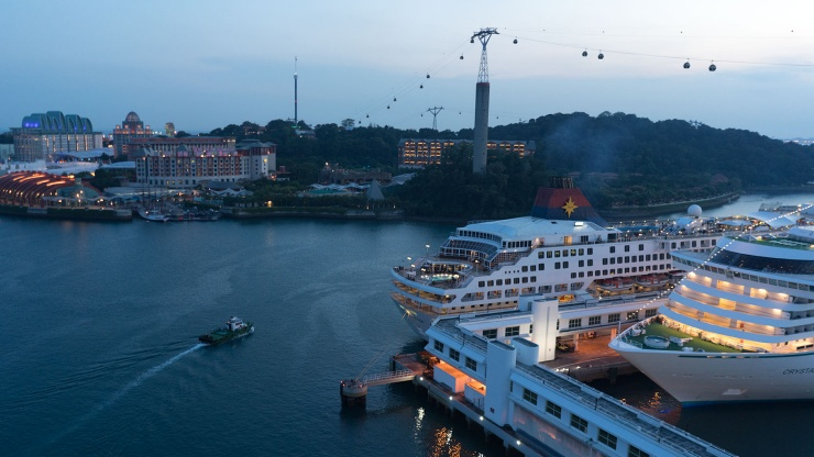 Singapore Cruise Centre's International Terminal, across from Sentosa Island