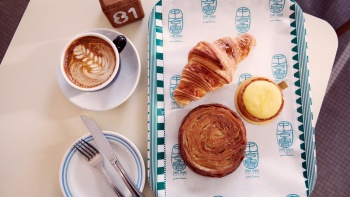 Flatlay of the signature dishes at Tiong Bahru Bakery