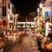 Night view of pedestrianised street at Club Street
