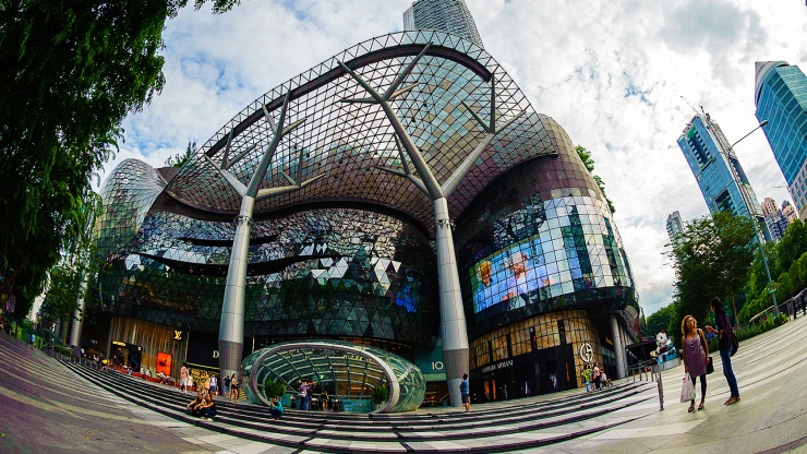 Exterior of ION Orchard in the day